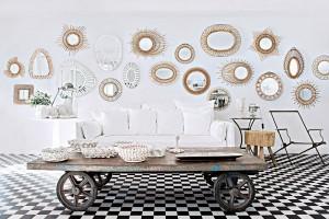mur recouvert de miroirs