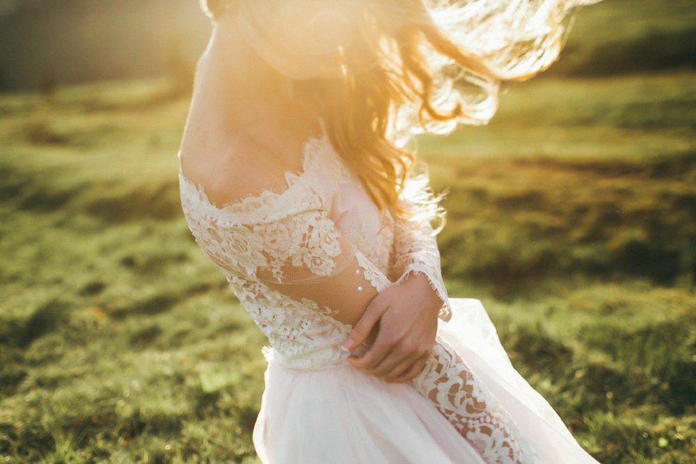 mariée dans la nature