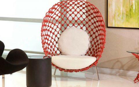 decoration fauteuil rouge contemporain