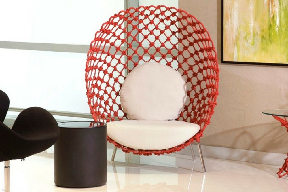 decoration fauteuil rouge contemporain