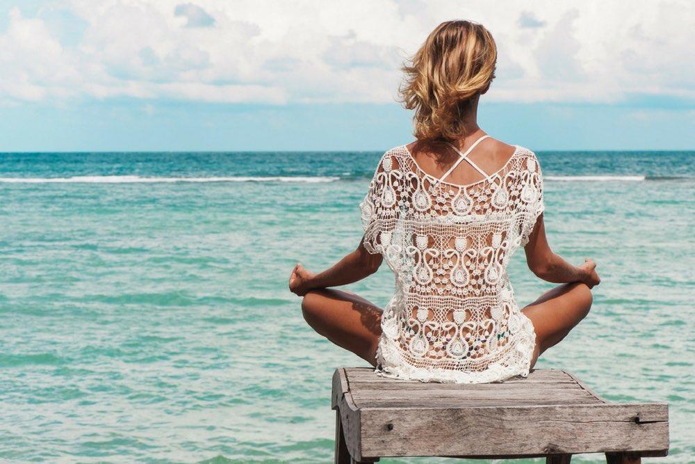 femme qui medite
