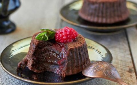 fondant chocolat framboise